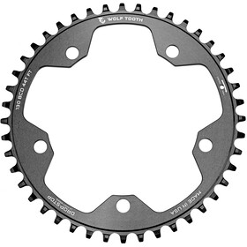 Wolf Tooth Cyclocross Chainring Flat Top Ø130mm BCD, black